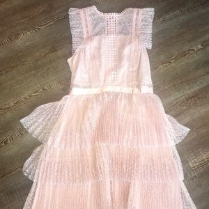 Heartloom baby pink lace dress